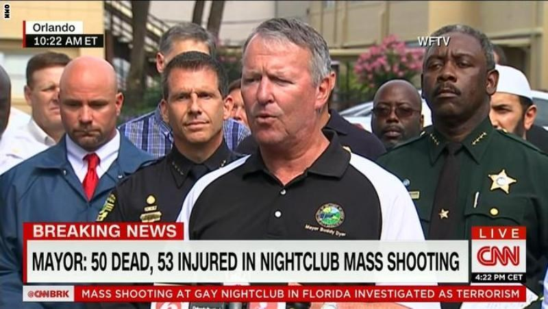 103 PEOPLE WERE KILLED AND INJURED IN THE ATTACK ON A NIGHTCLUB IN ORLANDO